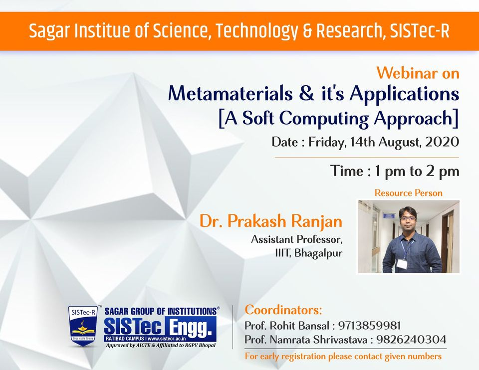 Webinar on Metamaterials & its Applications - A Soft Computing Approach